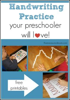 Lots of great ideas for learning letters: Fun handwriting practice for preschoolers! (the letter M) - The Measured Mom