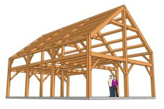 This 24x36 barn home is a sturdy two-level structure that you can build to comfortably house your family for many years to come! Barn House Plans, Shed Plans, Barn Plans, Diy Log Cabin, Axonometric Drawing, Stair Well, Elevation Drawing, Meet Locals, Tropical Houses