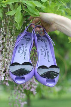 Purple Vivienne Westwood Anglomania + Melissa Lady Dragon heels