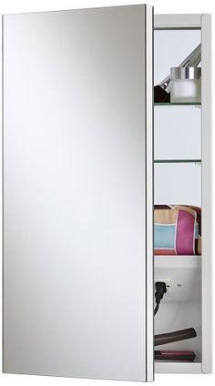 Ordinaire Broan NuTone 704317 Meridian X Frameless Polished Edge Mirror Electrified Medicine  Cabinet, Basic White