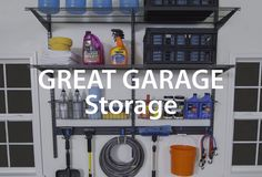 Garage organizing tips to store any sports, hobby or DIY project, from Organized Living. #organizedliving #organizedgarage