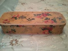 "ANTIQUE ""WALLPAPER"" VICTORIAN GLOVE BOX ***LATE 1800's***ESTATE FIND!!!"