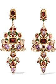 Percossi Papi Gold-plated multi-stone earrings