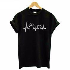 Paw Heartbeat Lifeline dog, cat Women T-shirt img 01