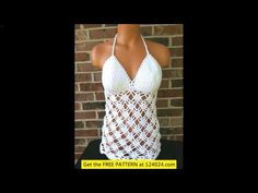 free crochet tank top tutorial More Tags: crochet baby hat patterns crochet braids hair crochet ear warmer pattern crochet monokini crochet terms how to croc. Diy Crochet Halter Top, Crochet Summer Tops, Crochet Halter Tops, Crochet Skirts, Crochet Bikini Top, Crochet Ear Warmer Pattern, Crochet Baby Hat Patterns, Crochet Geek, Free Crochet