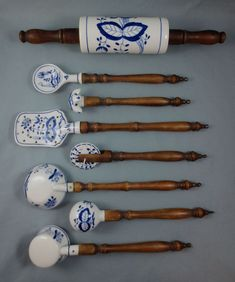 German onion blue kitchen utensil tools
