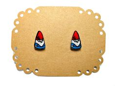 Lil' Gnomes, Post Earrings. $8.00, via Etsy.
