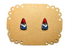 Lil' Gnomes Post Earrings by kteediid on Etsy $8