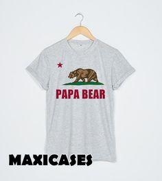 Papa Bear Flag of California T-shirt Men, Women and Youth