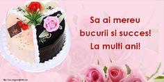 Felicitari de zi de nastere - Pagina 19 - mesajeurarifelicitari.com Birthday Cake, Desserts, Food, Tailgate Desserts, Deserts, Birthday Cakes, Essen, Postres, Meals