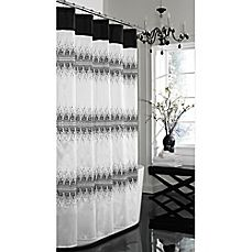 image of Giselle 72-Inch x 72-Inch Fabric Shower Curtain