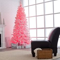 Pink Cotton Candy Christmas Tree