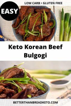 Bulgogi is a sweet and savory Korean dish. This keto Korean beef bulgogi removes the sugar, but keeps the absolutely delicious taste! Rib Recipes, Side Dish Recipes, Asian Recipes, Keto Recipes, Cooking Recipes, Asian Foods, Korean Beef Short Ribs, Boneless Beef Short Ribs, Korean Food Side Dishes