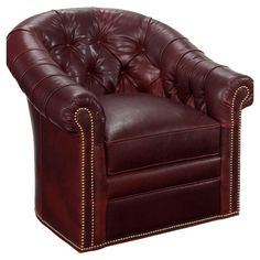 Found it at Wayfair - Robinson Leather Swivel Chair