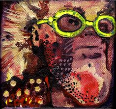 I'm a Star, that's what I are! - Acrylic on canvas/Acrylique sur toile - X Acrylic Paintings, Stars, Toile, Sterne, Star