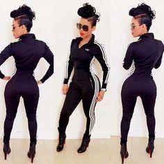Adidas Jumpsuit Women   Jumpsuit: adidas tracksuit, adidas, black, bodysuit, adidas suit, red ...