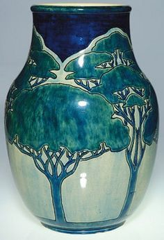 Newcomb Pottery Vase from the first period. Decorated by Leona Nicholson.          ~ antique art pottery - Google Search