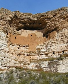 Bucket list item: Montezuma Castle - an awesome Native American cliff dwelling! See more: http://www.gypsynester.com/ir.htm