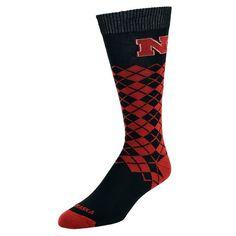 Men's Mojo Nebraska Cornhuskers Argyle Socks, Size: 10-13, Red
