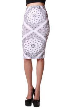 Cemi Ceri Womens Jersey Bandana Print Pencil Skirt $20