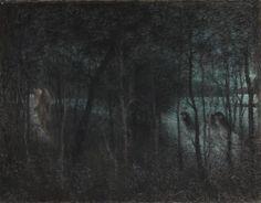 Lucien Lévy-Dhurmer (1865-1953), Le Cor fleuri, 1904, Musee departemental de l'Oise, Beauvais.