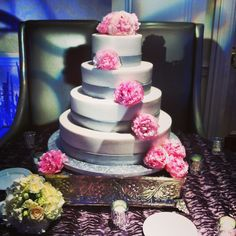Our #Peonies make this #cake perfect! #wedding #planning #events #flower #floral #decor #design #ideas #ilovemyjob #miami #florida #southflorida