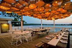 The Surf Lodge Restaurant Outdoor Dining