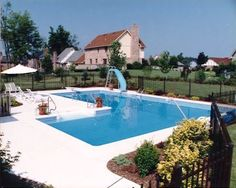 l shaped pool designs | ... 27500 the true l swimming pool is a rectangle pool with an additional
