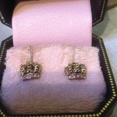 """Spotted while shopping on Poshmark: """"Juicy Couture Crown earrings;Pink crystal stones""""! #poshmark #fashion #shopping #style #Juicy Couture #Jewelry"""