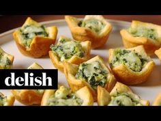 Making Spinach Artichoke Cups — Spinach Artichoke Cups Recipe How To Video
