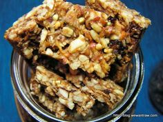I am great (raw food) Cafe Gratitude Granola bars by annluann