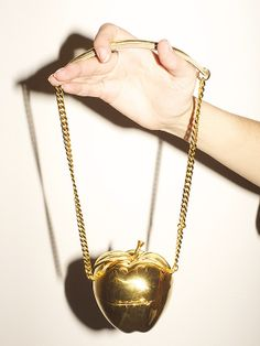 golden apple bag by Undercover