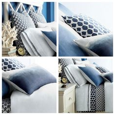 Blue and White Bedding {Friday's Fab Find} - Satori Design for Living