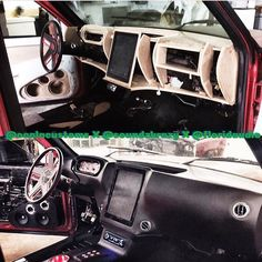 custom fiberglass dash interior door panels console tablet ipad #BecauseSS