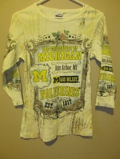 Michigan Wolverines Rhinestone shirt - Women's small | Sports Mem, Cards & Fan Shop, Fan Apparel & Souvenirs, College-NCAA | eBay!