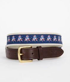 for the hubby and brother in law - Men's Canvas Belts: Patriot Players NFL Canvas Club Belt – Vineyard Vines