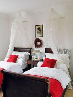 M s de 1000 ideas sobre dos camas gemelas en pinterest - Habitaciones infantiles con dos camas ...
