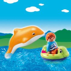 Playmobil 1.2.3. 6762: Child With Dolphin