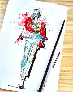 117 отметок «Нравится», 7 комментариев — VeronikaTaletskaya (@veronika_taletskaya) в Instagram: «Inspiring  @viktor_and_rolf . . . #illustration #illustrator #artgallery #watercolor #top_fashion…»