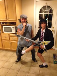 Halloween- Couples Costume: AC/DC, Brian Johnson & Angus Young