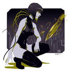 The Major((Ghost in the Shell)) Character Inspiration, Character Art, Character Design, Anime Ghost, Tableaux D'inspiration, Motoko Kusanagi, Anime Pixel Art, Illustration Story, Cyberpunk Art