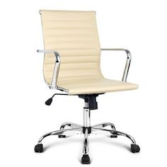 Bring a touch of contemporary living to your home or office interior with this high back office chair. Office Furniture, Home Furniture, High Back Office Chair, Office Interiors, Eames, Contemporary, Pu Leather, Beige, Home Decor