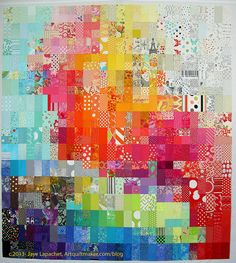 Fabric of the Year 2012, by jlapac via Flickr - it's like a fabric time capsule, using a snippet of each fabric you purchase throughout the year