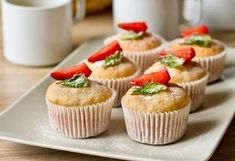 5 вкусных блюд из фарша. Отличная подборка - Рецепты и советы Sweet Pastries, Yogurt Recipes, Mini Cupcakes, Food Pictures, Delish, Sweet Tooth, Muffin, Strawberry, Baking