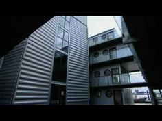 Container City system is made of recycled cargo containers.  Awesome and creative
