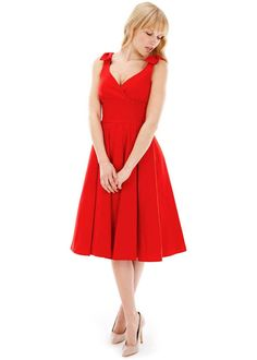 The Pretty Dress Company Red Ascot Vintage Dress