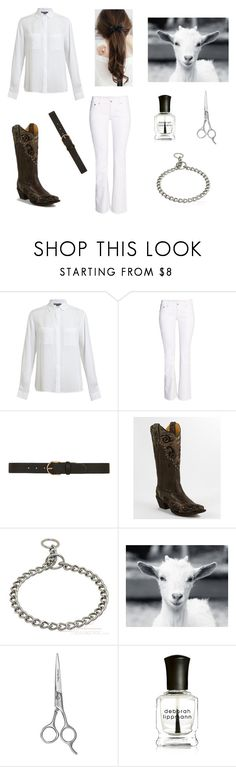 """""""4-H Goat Show"""" by kaitlynb0528 ❤ liked on Polyvore featuring Vince, H&M, Dorothy Perkins, Corral, Sally Hansen and Deborah Lippmann"""