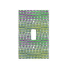 Light Switch Plate in colorful zigzag design #zazzle #decor #homedecor
