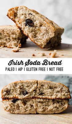 Paleo diet 72902087704473632 - Paleo & AIP Irish Soda Bread – Unbound Wellness Source by unboundwellness Paleo Bread, Paleo Baking, Aip Diet, Soda Bread, Keto, Paleo Breakfast, Wellness, Gluten Free Recipes