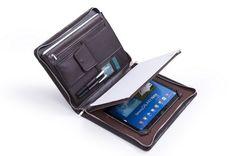 Microfiber Leather Portfolio case in Coffee for Galaxy Note Pro 12.2